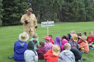 Roosevelt teaches about conservation and the Teddy Bear