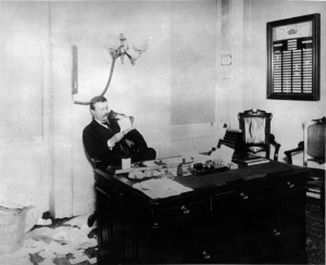 TR in his office in New York