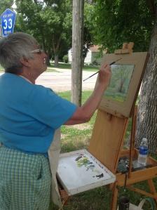 Artist Gerry Tostenson