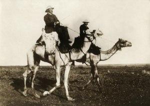 Teddy roosevelt on a camel