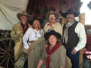 Some old west characters at the Buckhorn